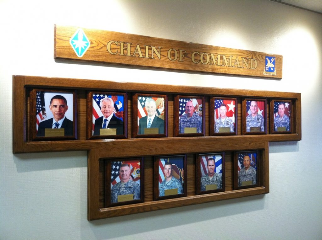 Chain of Command plaque in the Hall of Fame