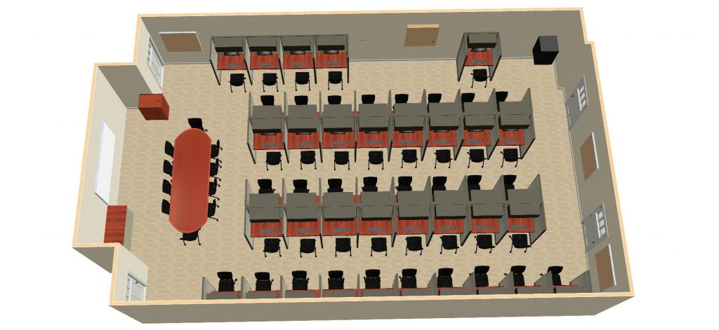 3D engineering of Fort Huachuca classroom construction